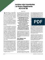 4 Los Cambios Mas Importantes en El Reglamento ACI_318-89
