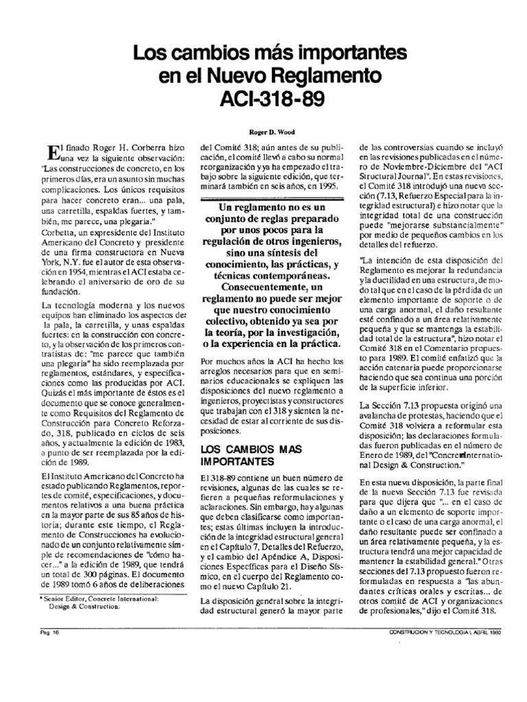 reglamento aci 318-89
