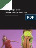 Designing a Deaf culture specific web site – Participatory design research for knack.fi