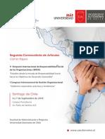2da Convocatoria V SIRSO y  I Congreso Internacional Gestión Organizacional  - 6 y 7 de Septiembre de 2018 - Universidad Autónoma de Chile