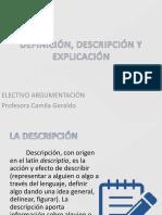 Definición, Descripción y Explicación