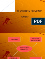 4.6 Transition Elements