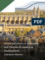 Global Definitions Leadership Theories Leadership Development