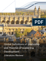 Global Definitions Leadership Theories Leadership Development