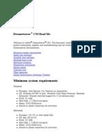 Dreamweaver CS3 Read Me
