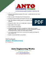 ANTO Engg. Catalogue