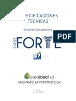 CASAIDEAL Especificaciones Técnicas Panel FORTE
