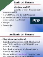 Auditoria Del Sistema Oracle