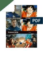 Goku y Cap America