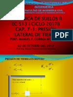 EC 513 ICAP. 7-1 2017 II Presión Lateral de Suelo
