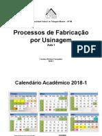 introdução a processos de fabricação por usinagem