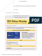 Yellow Monday 9 April 2018