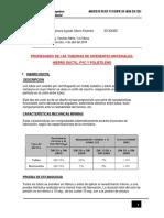 características de tuberías de pvc, hdpe, hd