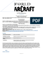 World of Warcraft 5e RPG Core Document