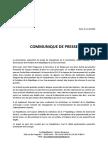 Communiqué de Presse - Réforme Constitutionnelle
