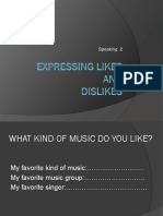 Expressing Likes