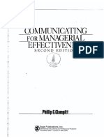 Communicating for Managerial Effectiveness - Cap. I