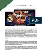 Prediksi Real Madrid vs Juventus 12 April 2018 Piala Dunia Rusia 2018
