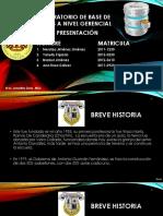 Pres. Lab. Base de Datos a Nivel Gerencial