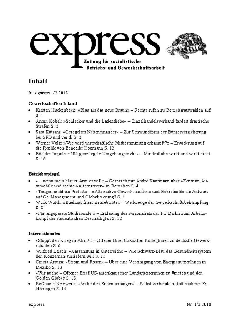 Express 12 2018 Inhalt