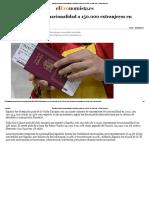 España Concedió La Nacionalidad a 150.000 Extranjeros en 2016, Un 32% Más , Nuevo Orden Mundial, NWO,  UN, Israel