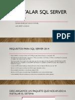 Instalar SQL Server 2014