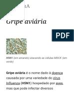 Gripe Aviária – Wikipédia, A Enciclopédia Livre