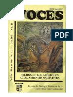 Voces 19 -  Hechos de los apóstoles, acercamientos narrativos