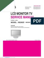 Pantalla Repetidora LG M2262DL Manual