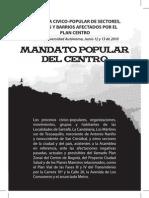 Mandato Popular Del Centro Secuencia