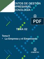 Tema 02 La Empresa y El Empresario