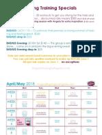 Spring Training Specials 2018
