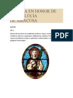 Novena en Honor de Santa Lucía