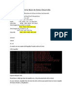 Informe Base de Datos Desarrollo