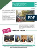 Hoja de actividad en el Museo Nacional de la Acuarela, Sala Guati Rojo