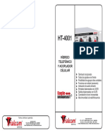 Manual hibrido telefonico TRIALCOMHT-4001