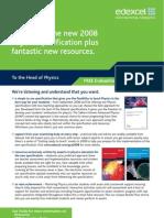 Physics GCE Leaflet