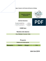 Informe de Sagarpa