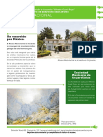 Hoja de actividades del Museo Nacional de la Acuarela Alfredo Guati Rojo de la Sala Nacional