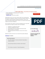 Using Hadoop and Applying Analytics on Large Data for Actionable BI- Webinar