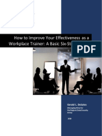 How To Improve Your Effectiveness as a Workplace Trainer