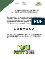 6to Encuentro Nacional Cultural y Deportivo FETUT 2018