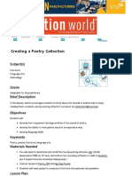 creating a poetry collection   education world