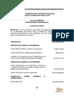Ley de Ingresos Oaxaca 2011