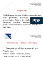 Pg 1 Ano - Introduao a Psicopatologia