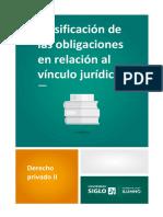 2 Clasificación de Las Obligaciones en Relación Al Vinculo Jurídico