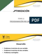 Optimización 2017 TEMA 2