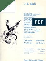 Bach 6 Suites Pour Violoncelles Vol2 M Sadanows