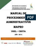 Mapro 2014-Ugel Chota