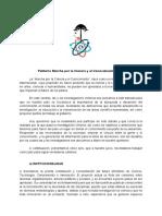 Petitorio Marcha Por La Ciencia y El Conocimiento Chile